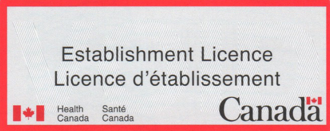Health Canada Establishment Licence